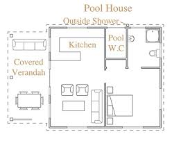 pool house plans with bedroom impressive design small pool house plans floor esprit home plan