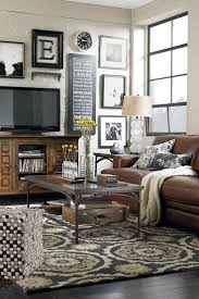 decorating pottery barn living room with tv stand and glass
