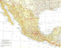 Detailed Map Of Mexico by Antique Images Free Map Clip Art Vintage 1913 Map Background Of