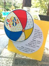 free printable pool invitation