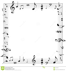 music notes border stock vector image 39461259