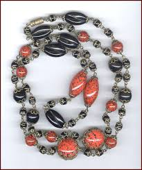 long orange necklace images Vintage costume jewelry unsigned necklaces jpg