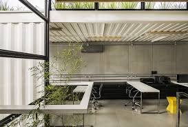 container modular and sustainable office structure with