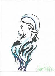 tribal wolf drawing by animanga27 on deviantart