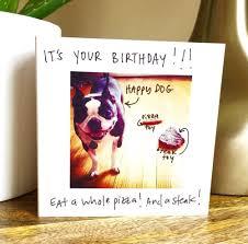 birthday card happy birthday card be happy dog card funny