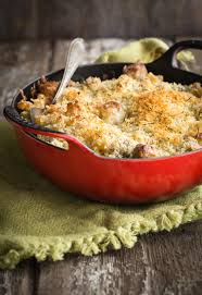 mac and cheese with fennel and chicken apple sausage foodness