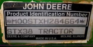 john deere stx38 lawn mower item b1335 sold june 13 mid