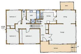 Split Level House Plan Figure Typical Split Level House Plan Main Floor House Plans