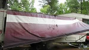 Rv Awning Replacement Fabric Rv Living Awning Repair Youtube