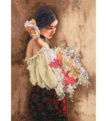 dimensions gold collection with bouquet counted cross stitch
