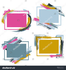 brown crimson pink grayish blue frames stock vector 690067447