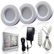 Dimmable Led Puck Lights 3watt Led Under Cabinet Lighting Kit Aluminum Puck Lights