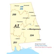 area code for alabama usa area code lookup for usa country by using the map locations