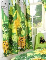 Elephant Curtains Uk Kids Curtains With A Jungle Theme 66 X 54 Inch Tigers Elephants