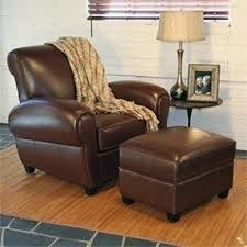 Brown Leather Chair With Ottoman Recliners With Ottomans Foter