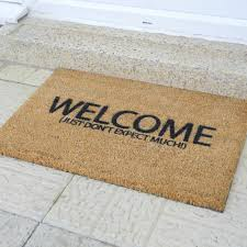 welcome just don u0027t expect much doormat gadget flow