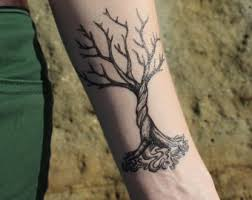 tree roots tattoo etsy
