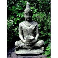 serene buddha garden statue