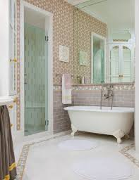 Wallpaper In Bathroom Ideas by Bathroom Gray Border Bathroom Tiles Airmaxtn