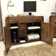 Dark Wood Furniture Hidden Office Furniture Techethe Com