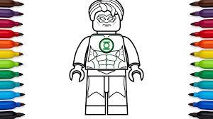 how to draw lego green lantern hal jordan dc comics super