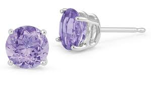 tanzanite stud earrings tanzanite stud earrings 14k white gold