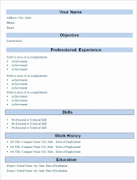 simple resume format sle of a simple resume format awesome professional resume