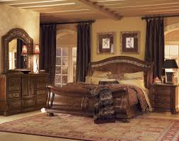 Cherry Wood King Headboard Furniture Amazing Bedroom Decoration Using Curved Solid Cherry