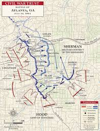 Underground Atlanta Map by Battle Of Atlanta Google Search Civil War Atlanta Campaign