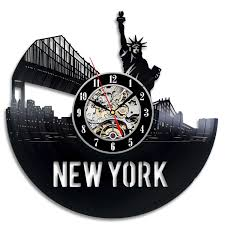 statue of liberty souvenir vinyl record wall clock decorate your see larger image