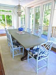 Best Fabric For Dining Room Chairs My Best Friend U0027s East Hampton Dining Room Light Blue Chippendale
