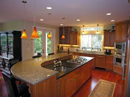 kitchens with different colored islands island w two different color granite countertops house interior