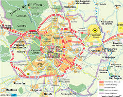 madrid spain map map of madrid spain map in the atlas of the atlas