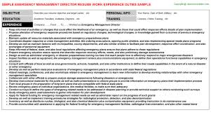 Librarian Resume Examples by Emergency Management Director Resume Sample