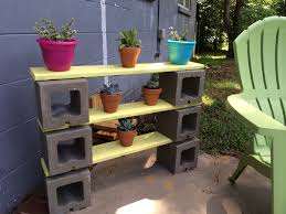 Diy Patio Furniture Cinder Blocks Ideas Solid White Cinder Block Shelves For Diy Shelves Idea