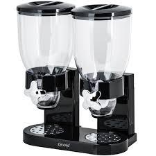 zevro dispenser zevro gat200 black double canister dry food