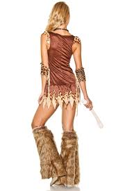 cavewoman halloween costumes forplay animal print cave woman costume in brown