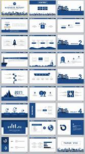 simple business report template 27 blue simple business report powerpoint templates
