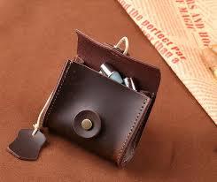 Cowhide Leather Purses Unisex Genuine Leather Coin Purse Original Handmade Cowhide