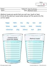 concrete and abstract nouns worksheet worksheets