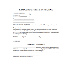 sample 30 day notice template 8 free documents in pdf word