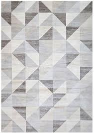 Modern Rug Patterns Modern Silver Gray And White Modern Geometric Triangle Pattern Rug