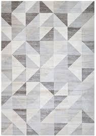 Modern Gray Rug Modern Silver Gray And White Modern Geometric Triangle Pattern Rug