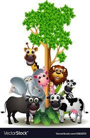 safari cartoon various funny cartoon safari animal royalty free vector