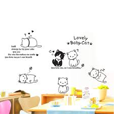 Decoration Cat Wall Decals Home by Aliexpress Com Buy Diy Cute Couple Cat Wall Decals Sticke Art