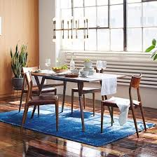 Lucite Dining Room Chairs Mid Century Expandable Dining Table Westelm Great For Minimalist