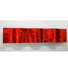 modern abstract metal wall art sculpture home decor red fire