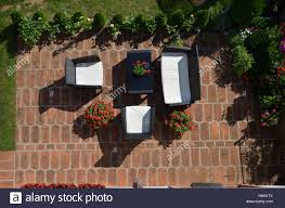 Flower Garden Chairs Bird U0027s Eye View Of Garden Furniture With Served Table Surrounded