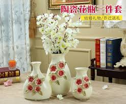 Small Vase Flower Arrangements Ceramic Fashion Rose Dried Flower Arrangement Vase Pot Home Decor