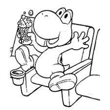 20 free printable super mario coloring pages yoshi
